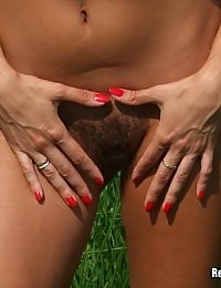 Hairy Amateur Fucked in the Field